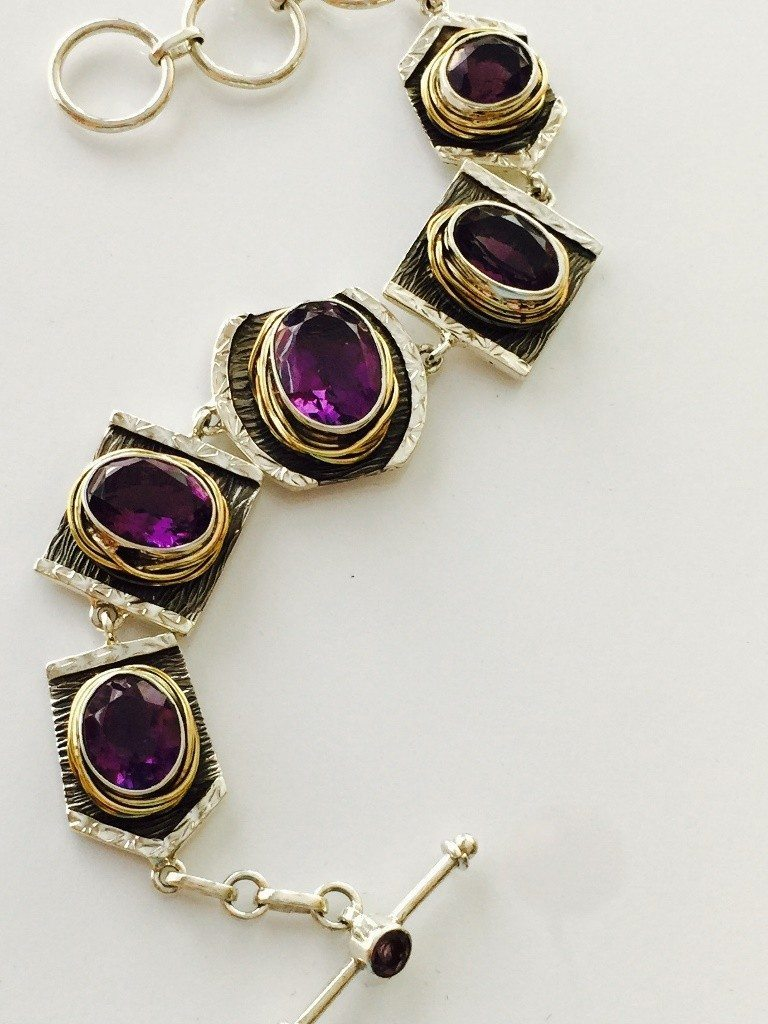 Amethyst Bracelet from Marlena Winiarska of Stems and Gems