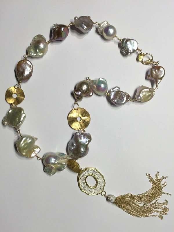 Baroque Pearl Tassel Necklace