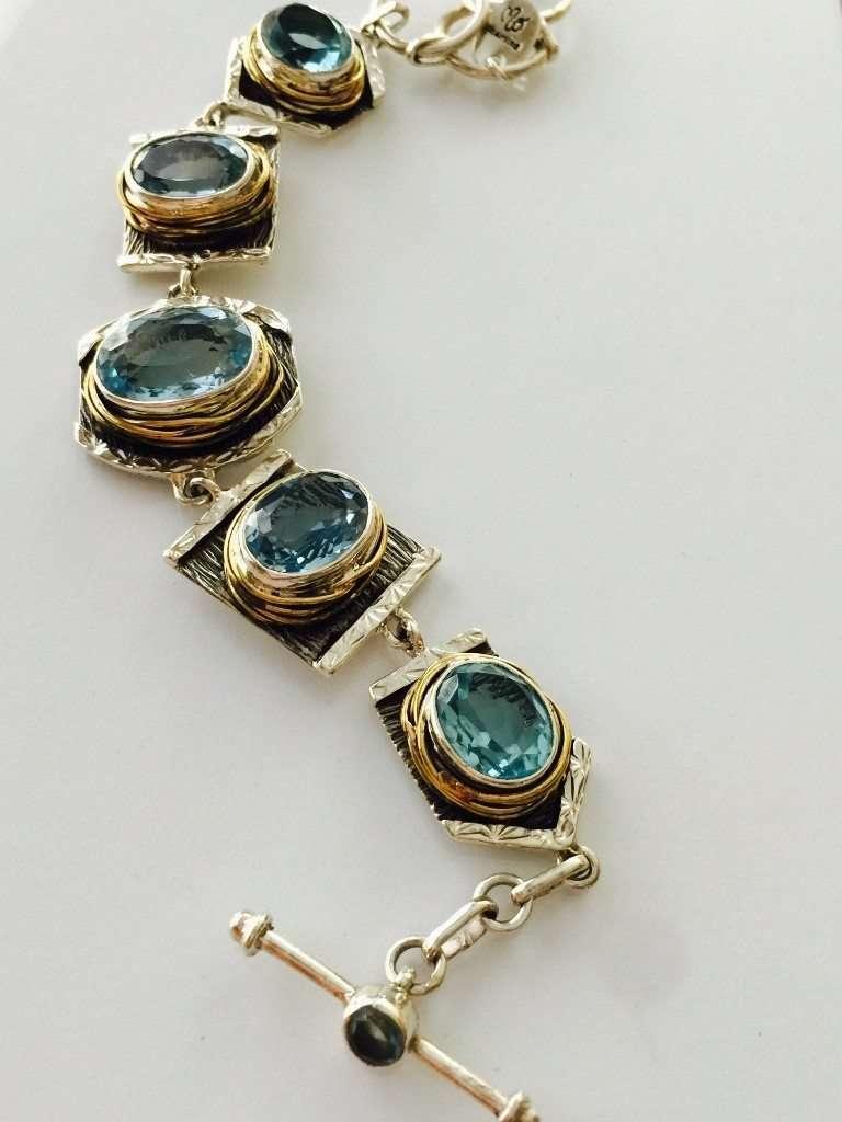 Blue Topaz Bracelet from Designer Marlena Winiarska