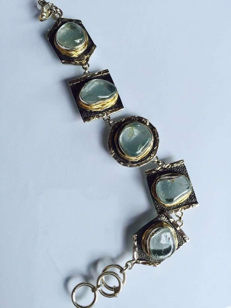 Moonstone Bracelet by Stems and Gems, LLC
