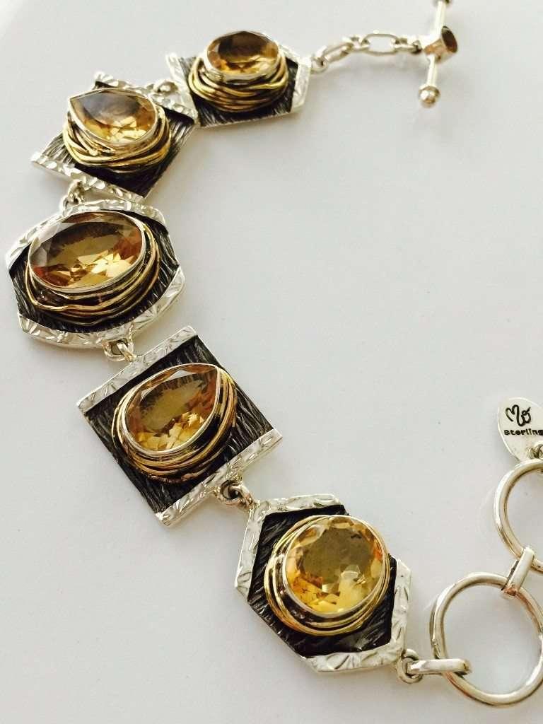 Citrine Bracelet from Designer Marlena Winiarska
