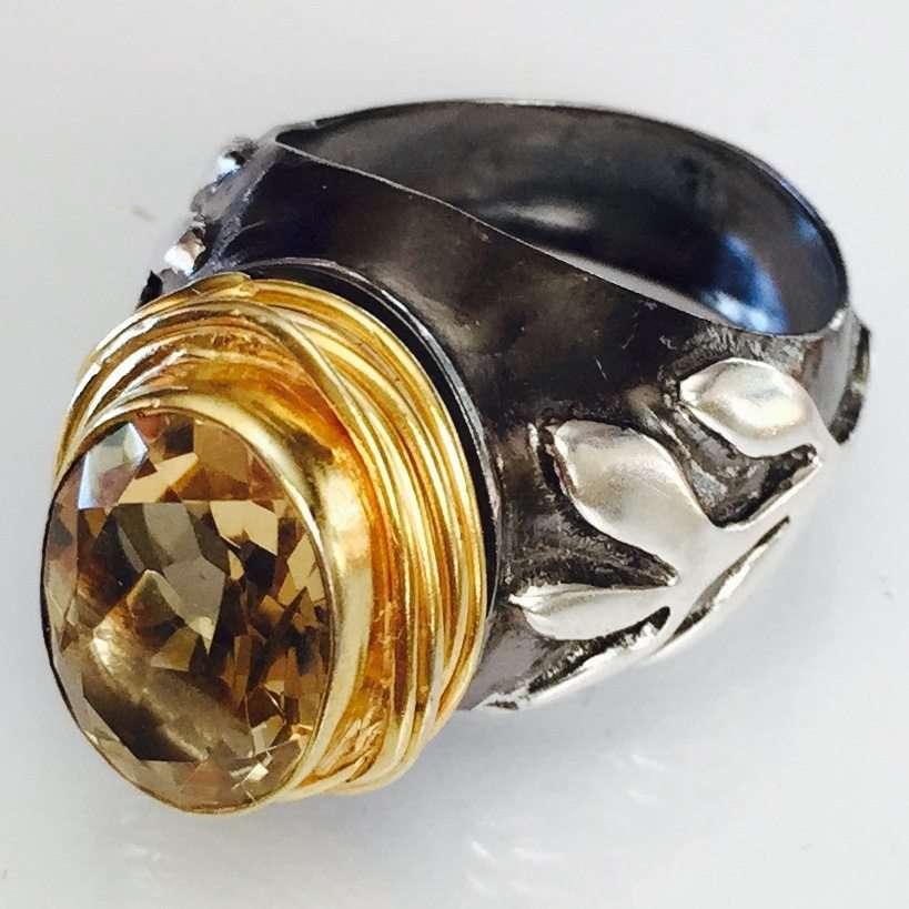 Citrine Stem Ring