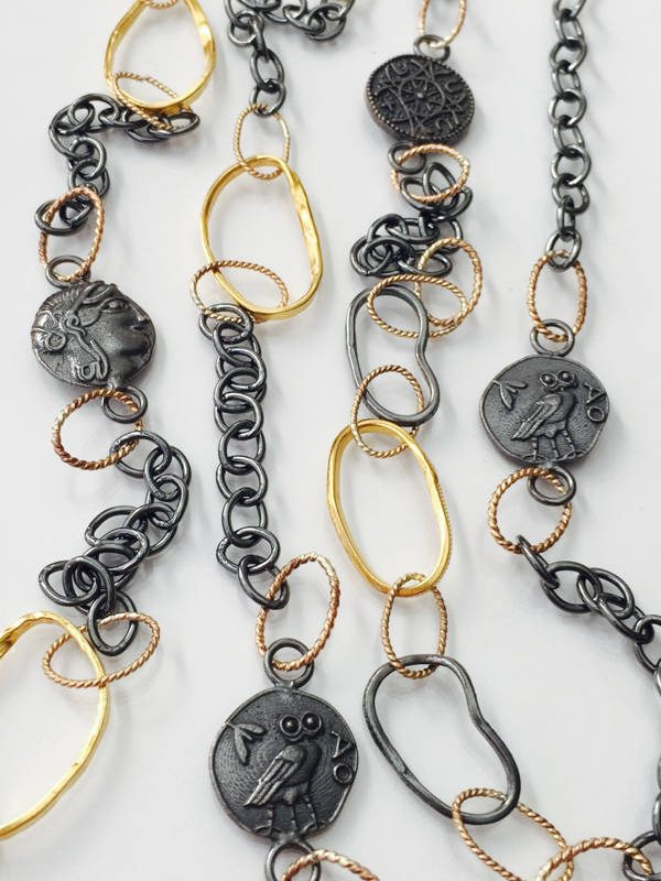 Coin Necklaces by Marlena Winiarska of Stems and Gems