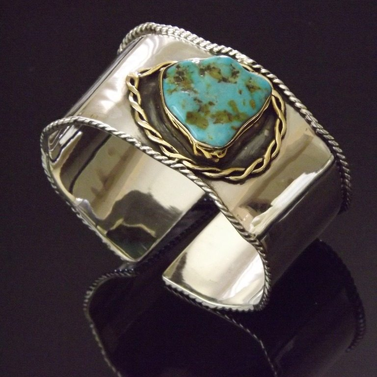 Turquoise Cuffs and Bracelets from Marlena Winiarska of Stems and Gems
