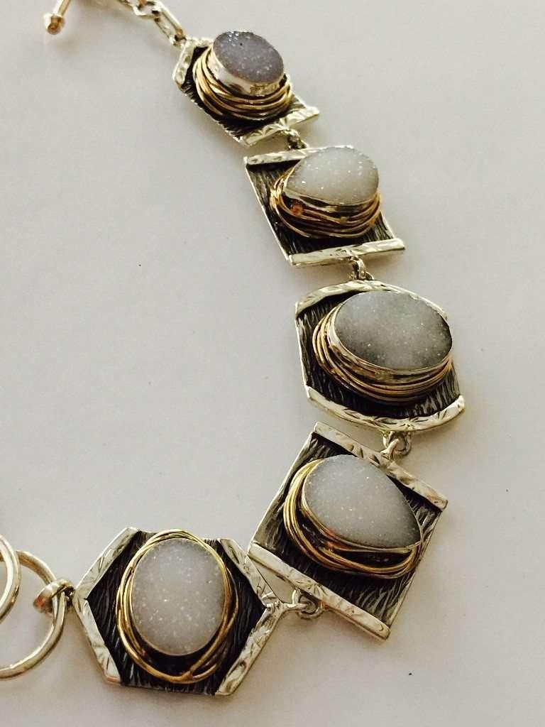 Drusy Bracelet by Jewelry Designer Marlena Winiarska