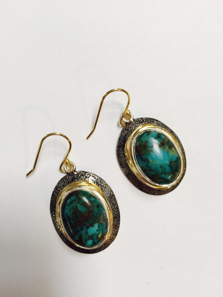 Earrings from Stems and Gems Jewelry Designer, Marlena Winiarska