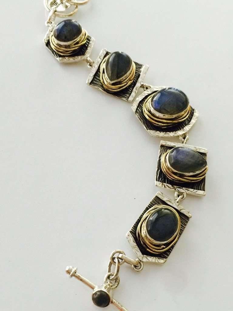 Labradorite Bracelet Handmade by Marlena Winiarska