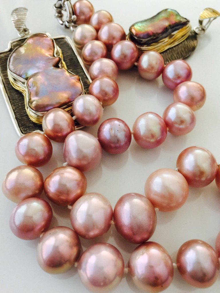 Pink Pearl Jewelry from Stems and Gems