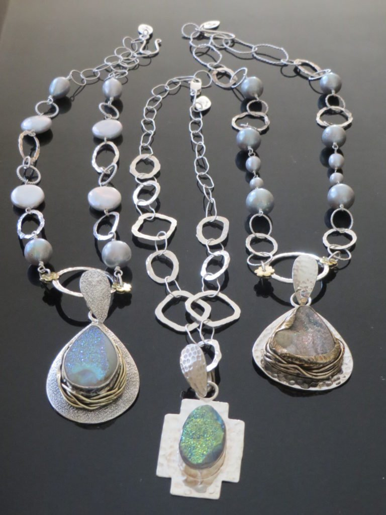 Necklaces from Stems and Gems Jewelry Designer, Marlena Winiarska