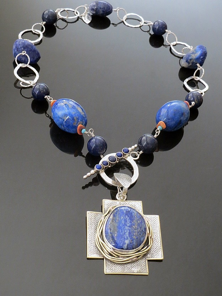 Lapis Necklace from Stems and Gems Designer, Marlena Winiarska