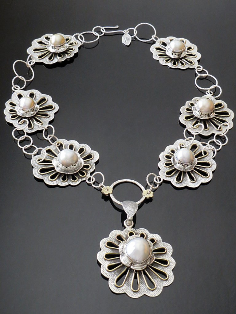 Pearl Necklace from Stems and Gems