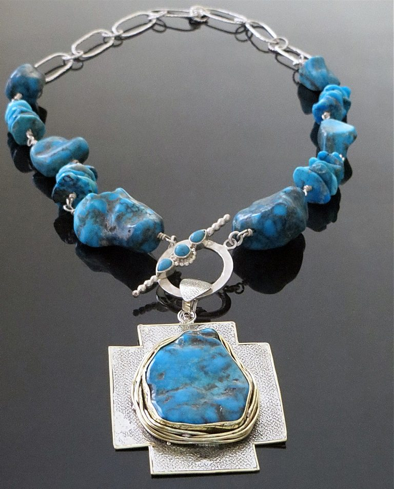 Turquoise Necklace from Marlena Winiarska of Stems and Gems