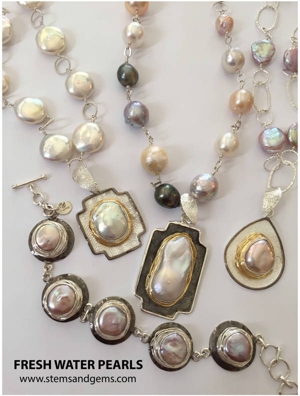 Fresh Water Pearls Handmade Jewelry Collection