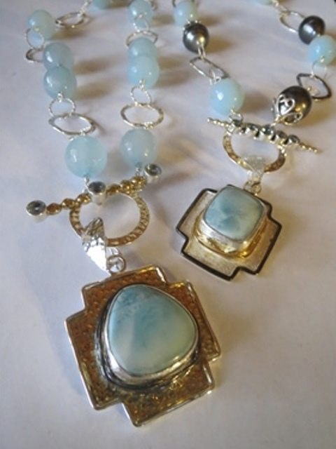 Larimar Necklaces from Stems and Gems