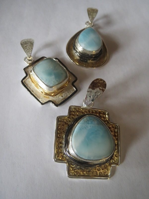Larimar Pendants from Stems and Gems