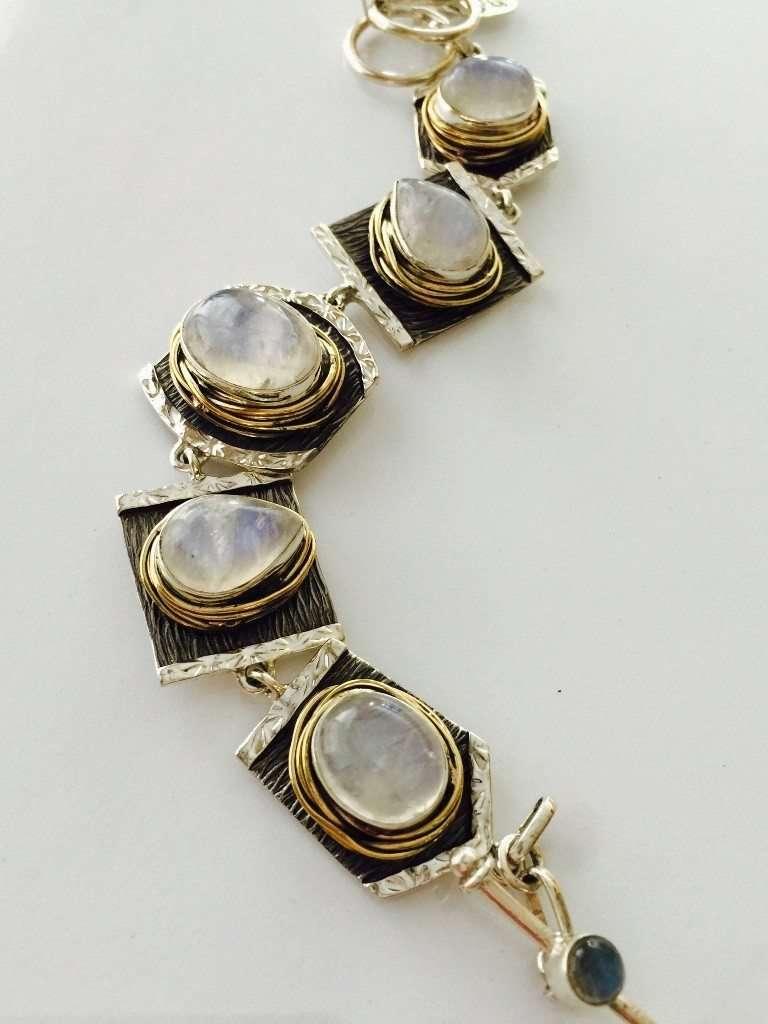 Rainbow Moonstone Bracelet by Marlena Winiarska