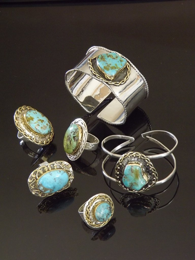 Turquoise Jewelry from Marlena Winiarska of Stems and Gems