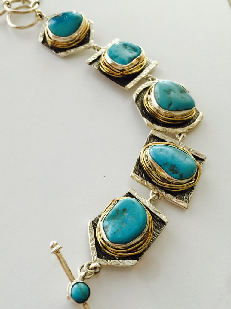 Turquoise Bracelet from Stems and Gems