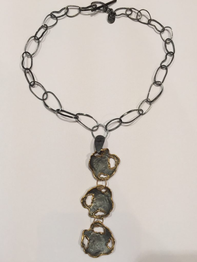 Triple Drop Necklace by Stems and Gems