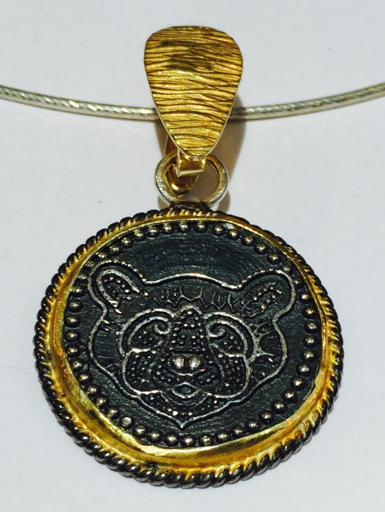Coin Style Necklace Design from Stems and Gems