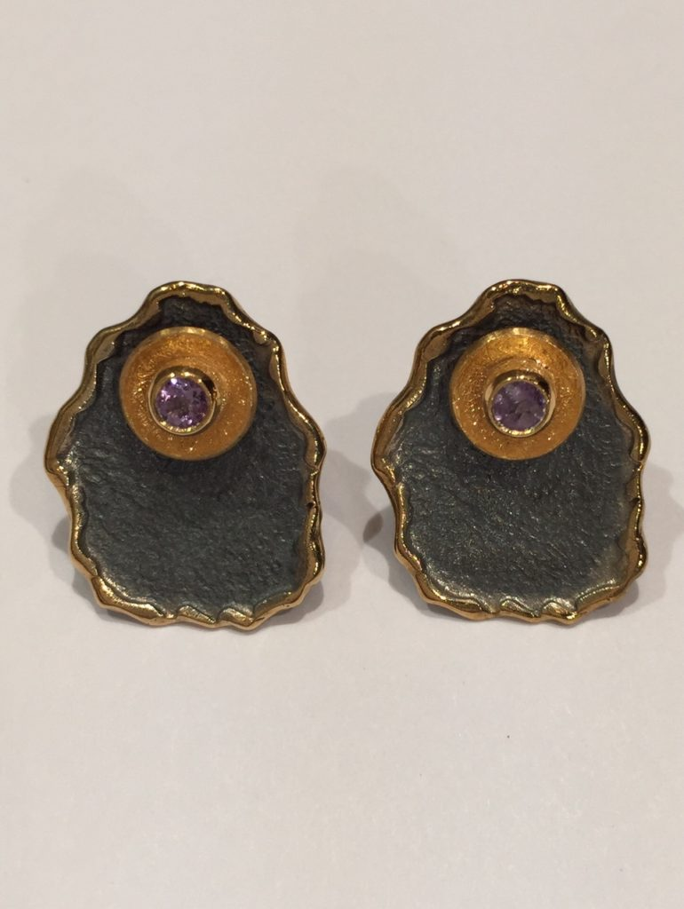 Amethyst Earrings 2mm stone