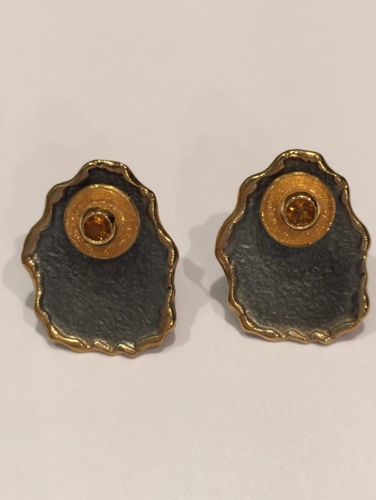 Citrine Earrings 2mm stone