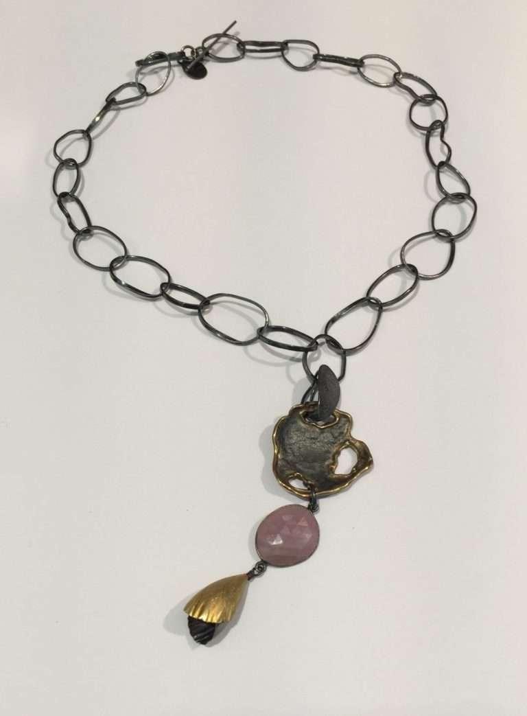 Pink Saphire Enhancer Necklace