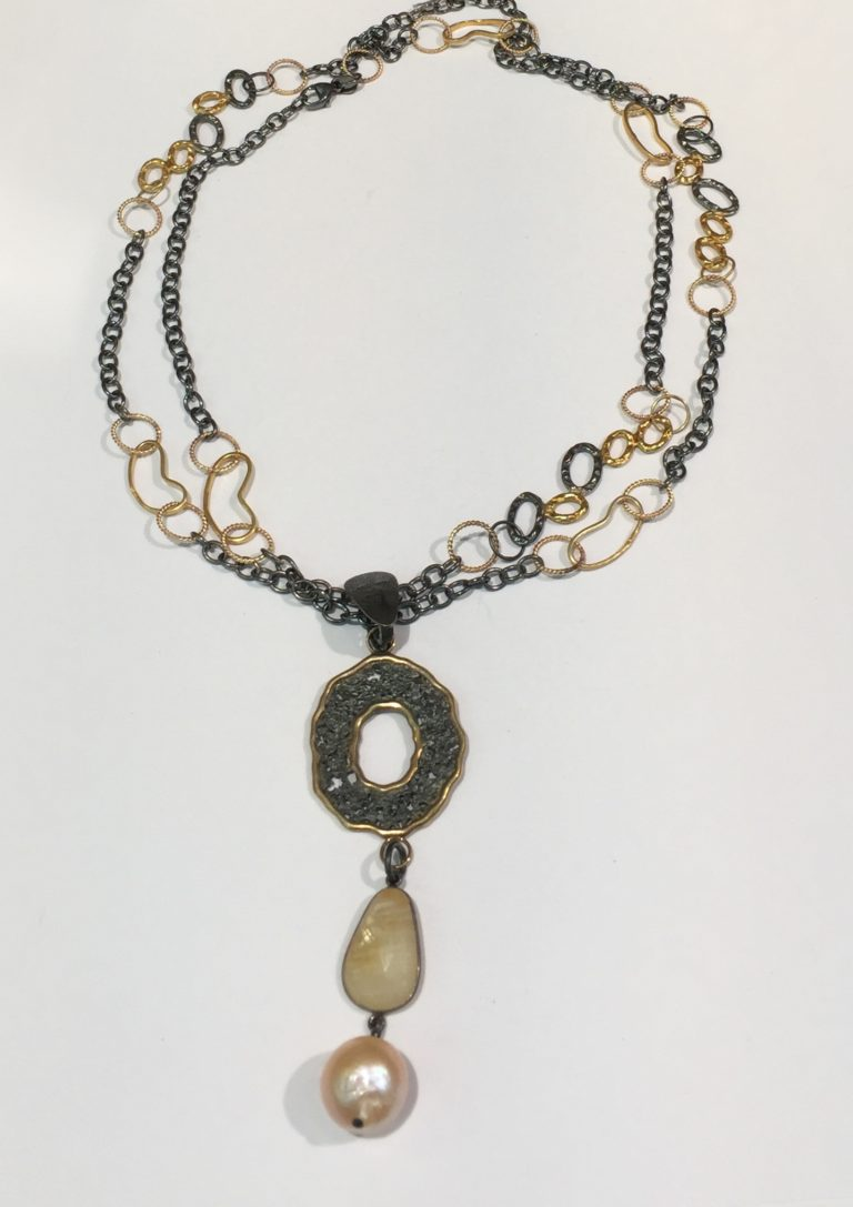 Yellow Saphire Enhancer Necklace